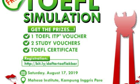 TOEFL AKBAR: GRATIS SIMULASI TOEFL DAPATKAN TOEFL ITP