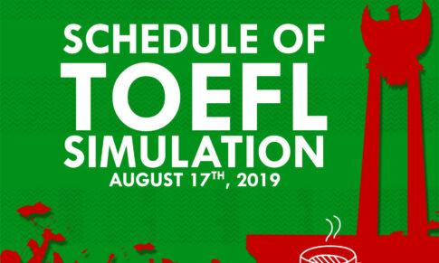 JADWAL TOEFL SIMULATION 17 AGUSTUS 2019    MAHESA INSTITUTE